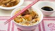Фото рецепта Суп с рисовой лапшой и сыром тофу