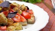 Фото рецепта Лёгкий салат с томатами и крутонами