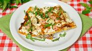 Фото рецепта Пицца из лаваша с креветками и тофу