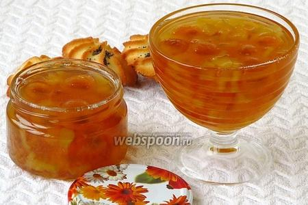 Варенье из жёлтой алычи с кабачками в ананасовом соке