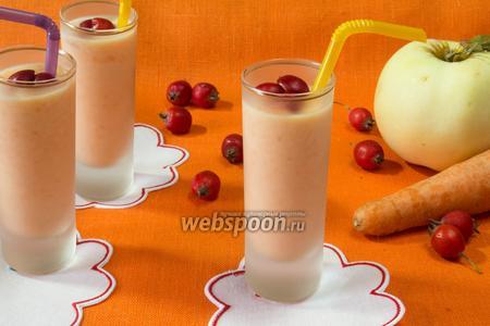 Молочный кисель с морковью