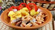 Фото рецепта Сельдь, маринованная с томатной пастой