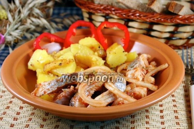 Фото Сельдь, маринованная с томатной пастой