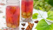 Фото рецепта Сливово-виноградный компот с пряностями