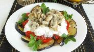 Фото рецепта Салат с баклажанами «Сытный»