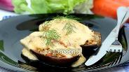 Фото рецепта Запечённые фаршированные баклажаны под сыром
