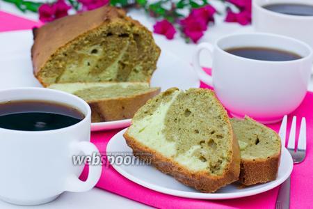 Мраморный кекс с чаем маття