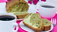 Фото рецепта Мраморный кекс с чаем маття