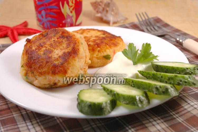 Фото Картофельные биточки с сёмгой