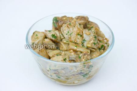 Подаём балажаны со вкусом грибов как гарнир, как тёплый салат или закуску, порционно или в одном блюде.