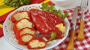 Фото рецепта Перец фаршированный брынзой и яйцом