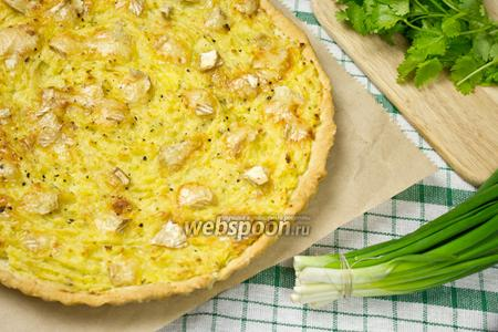 Картофельный пирог с сыром бри
