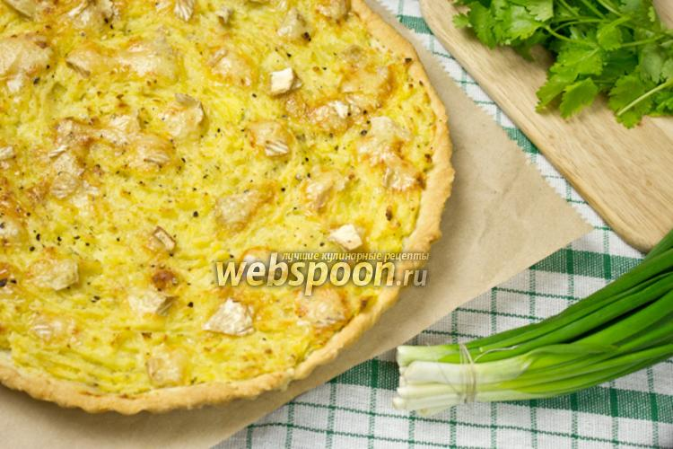 Фото Картофельный пирог с сыром бри