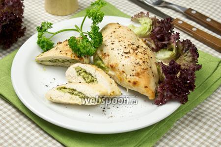 Фаршированные куриные грудки по-итальянски