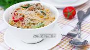 Фото рецепта Фунчоза с овощами и свининой