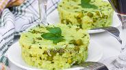 Фото рецепта Золотистый рис с зелёным горошком
