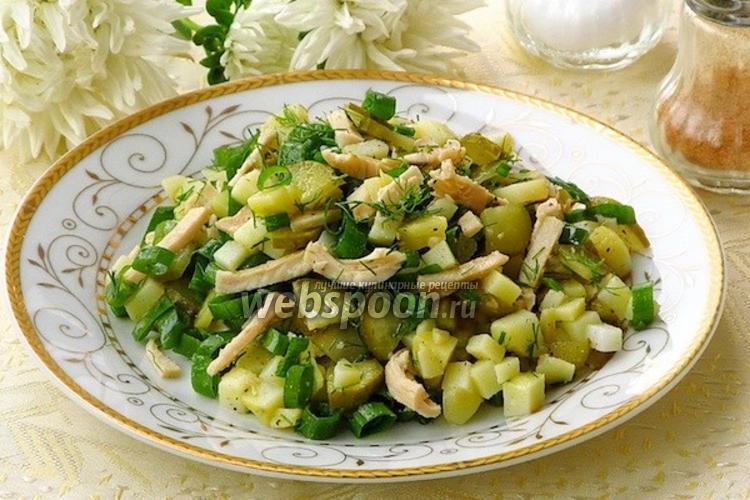 Фото Салат из кальмаров с овощами