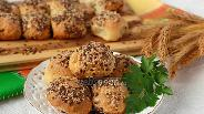 Фото рецепта Ароматные творожные булочки с зеленью