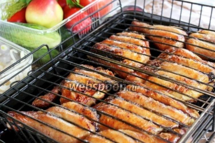 Фото Шашлык из курицы в соевом соусе
