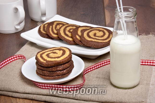 Фото Кофейно-шоколадное печенье «Зебра»