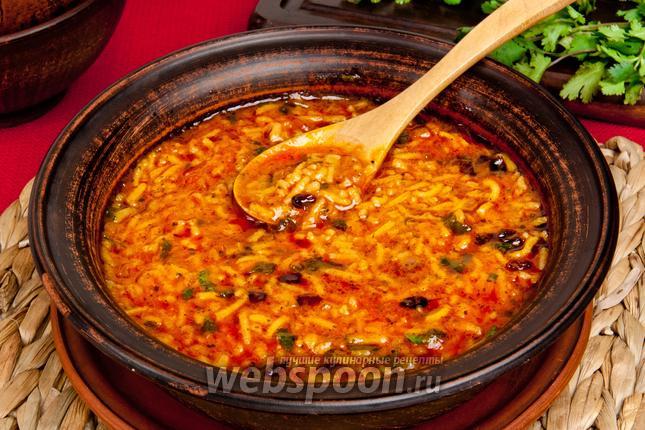 Фото Суп Харчо без мяса с томатной пастой