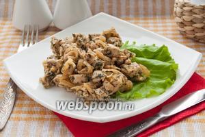 Куриное филе в сметане с укропом