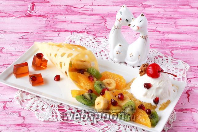 как приготовить завтрак фруктовый салат с мороженным