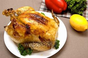 Курица запечённая с французкими травами