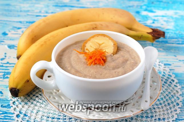 Фото Молочный суп с бананами
