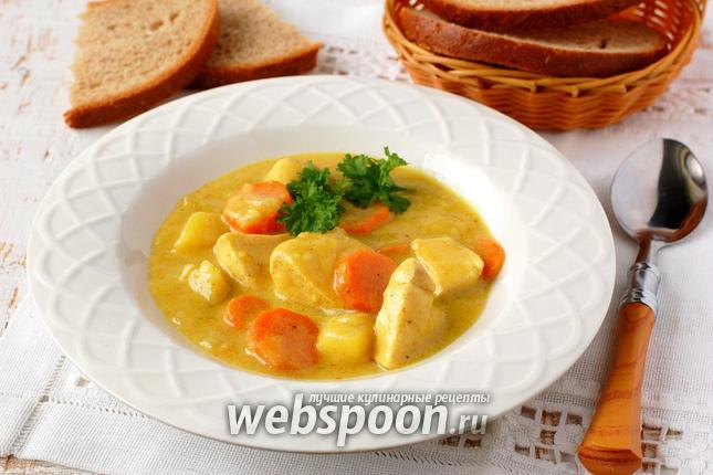 Фото Куриная грудка с овощами в пряном молочном соусе
