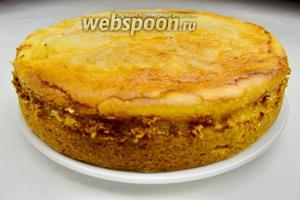 Готовый пирог вынуть из духовки. Остудить в форме. Вынуть из формы и подавать к чаю.