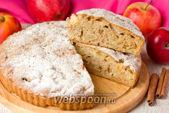 Фото Яблочный пирог с корицей и коньяком