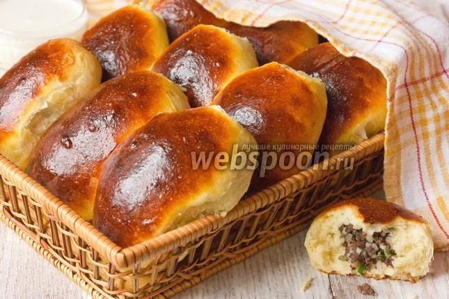 Фото Пирожки с ливером и рисом печёные