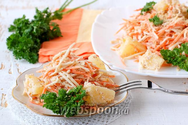 Фото Салат из сельдерея моркови и ананасов