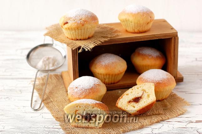Фото Сметанные булочки с повидлом