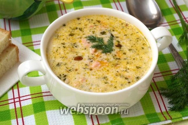 Фото Сырный суп с лососем