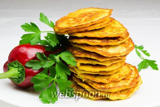 Фото Оладьи из икры судака с овощами