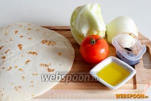Для приготовления вам понадобятся заранее подготовленная  пьядина , помидоры, салат Айзберг, фенхель, оливковое масло, бальзамический уксус или соус, соль и перец.