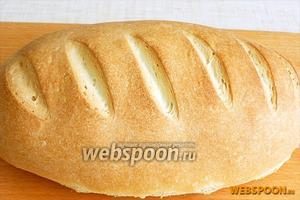 Выпекать хлеб 10 минут, затем уменьшить температуру до 180 °С  и печь ещё 20 минут. Ориентируйтесь на свою духовку.