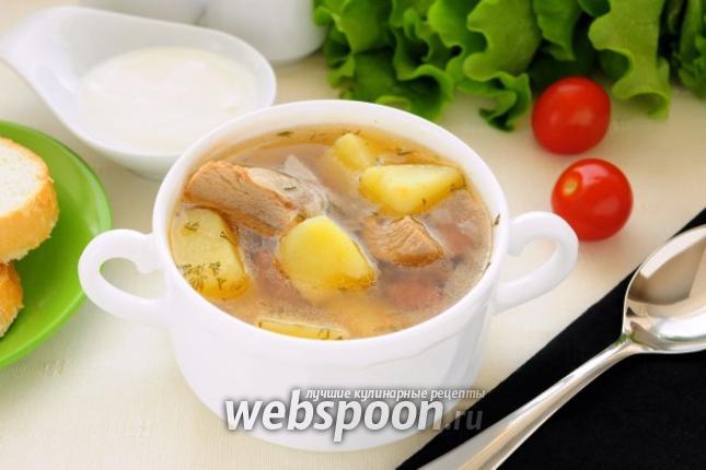 Фото Суп из индейки с фасолью