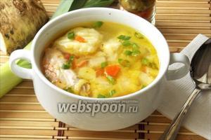 Суп с форелью и картофельными клёцками по итальянски
