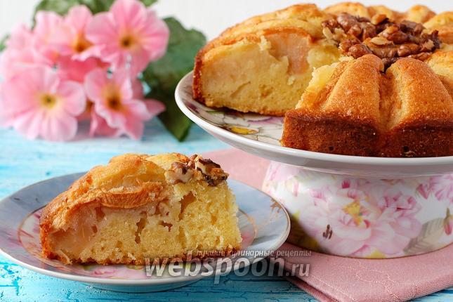 Фото Яблочно-ореховый пирог