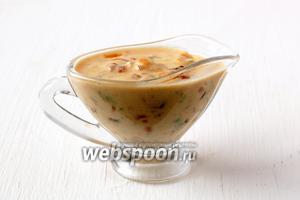 Готовый соус подавать к белому мясу или овощам.