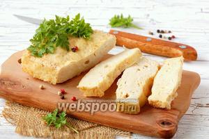 Куриное суфле с плавленым сыром в микроволновке