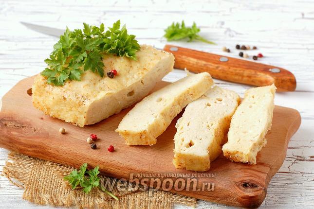 Фото Куриное суфле с плавленым сыром в микроволновке