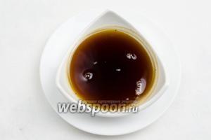 Коричневое топлёное масло остудить.