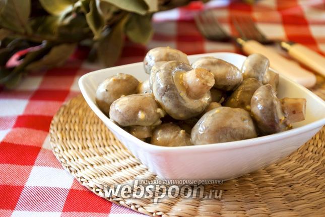 Фото Шампиньоны острые в горчичном соусе