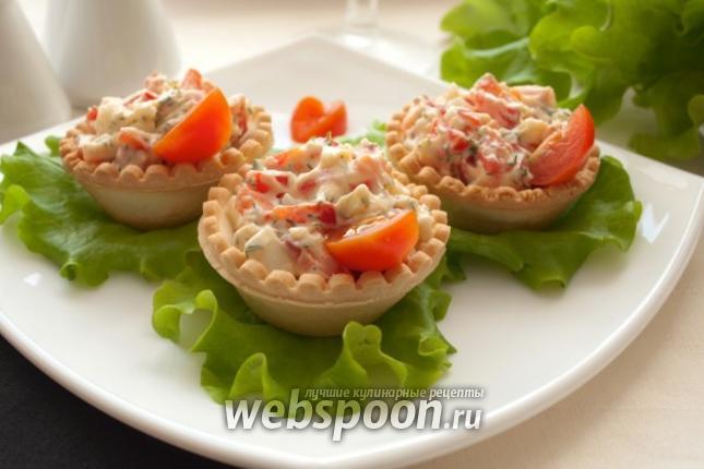 Фото Тарталетки с сыром и сладким перцем