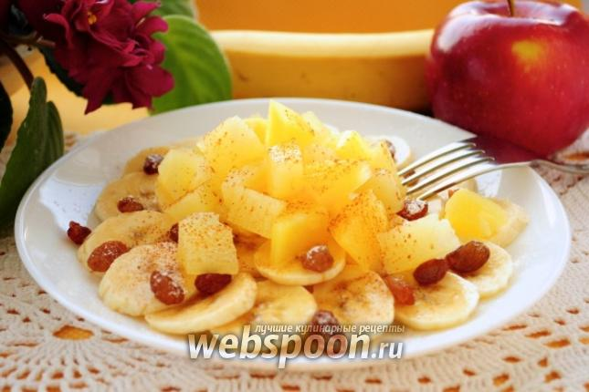 Фото Салат из ананаса и бананов