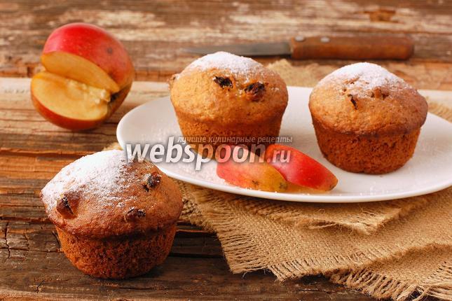 Фото Постные яблочные кексы